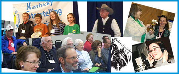 Collage of photos from the Kentucky Storytelling Association